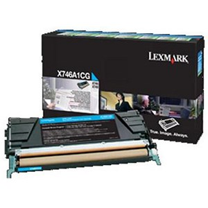 Image of Lexmark X746A1CG Cyan Laser Toner Cartridge