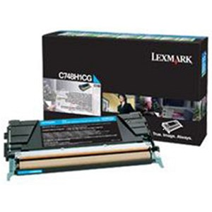 Image of Lexmark C748H1CG High Yield Cyan Laser Toner Cartridge