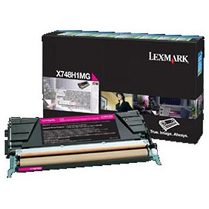 Image of Lexmark X748H1MG High Yield Magenta Laser Toner Cartridge