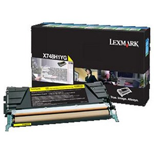 Image of Lexmark X748H1YG High Yield Yellow Laser Toner Cartridge