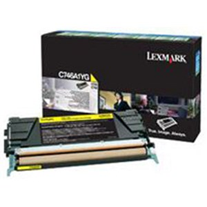 Image of Lexmark C746A1YG Yellow Laser Toner Cartridge