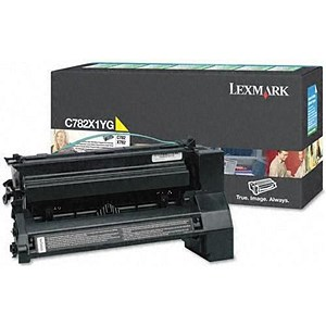 Image of Lexmark C782X1YG Extra High Yield Yellow Laser Toner Cartridge