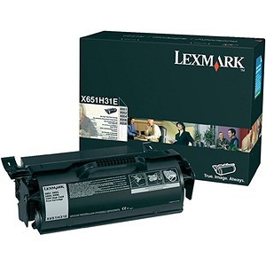 Image of Lexmark X651H31E High Yield Black Laser Toner Cartridge