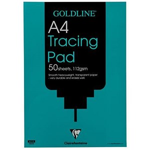 Image of Goldline Heavyweight Tracing Pad / A4 / 112gsm / 50 Sheets / Pack of 5
