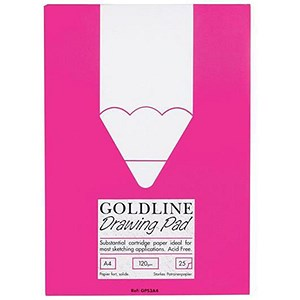 Image of Goldline Standard Drawing Pad / A4 / Acid-free / 50 Pages / 120gsm / Pack of 5