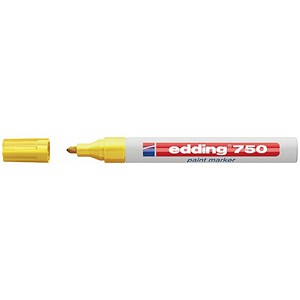 Image of Edding 750 Paint Marker / Bullet Tip / Yellow / Pack of 10