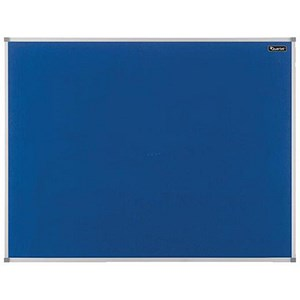 Image of Quartet Felt Noticeboard / Aluminium Trim / W900xH600mm / Blue