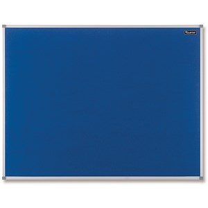 Image of Quartet Felt Notice Board / Aluminium Trim / 1200x900mm / Blue