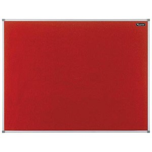 Image of Quartet Felt Notice Board / Aluminium Trim / 1200x900mm / Red