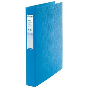 Image of Rexel JOY Ring Binder / 2 D-Ring / 40mm Spine / 25mm Capacity / A4 / Blissful Blue / Pack of 6