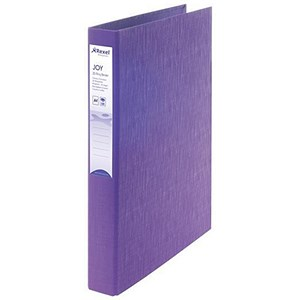 Image of Rexel JOY Ring Binder / 2 D-Ring / 40mm Spine / 25mm Capacity / A4 / Perfect Purple / Pack of 6