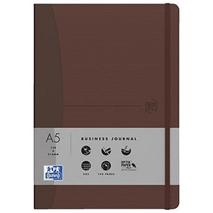 Image of Oxford Signature Soft Cover Business Journal / 144 Pages / Brown