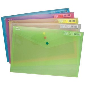 Image of Snopake PolyFile Classic Wallet Files / Polypropylene / Foolscap / Assorted / Pack of 5