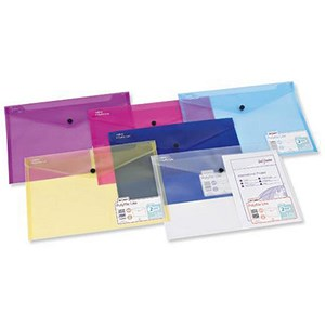 Image of Snopake PolyFile Lite Wallet Files / Polypropylene / Durable A4 / Assorted / Pack of 5