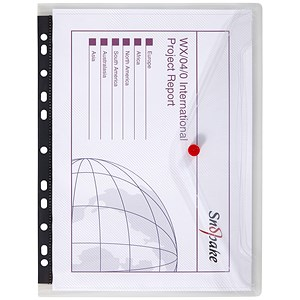 Image of Snopake PolyFiles Ring Binder Wallets / Clear / A4 / Pack of 5