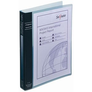 Image of Snopake Presentation Ring Binder / 4 O-Ring / 40mm Spine / 25mm Capacity / A4 / Electra Blue / Pack of 10