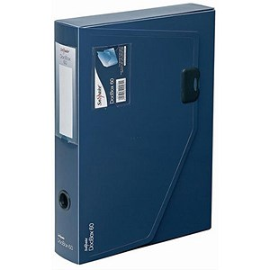 Image of Snopake DocBox Polypropylene Box File / 60mm Spine / A4 / Blue