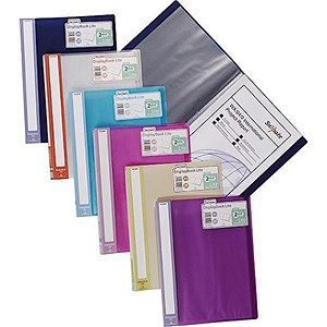 Image of Snopake Lite Display Book / 20 Pockets / Assorted Colours / Pack of 12