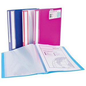 Image of Snopake Lite Display Book / 40 Pockets / Assorted Colours / Pack of 12
