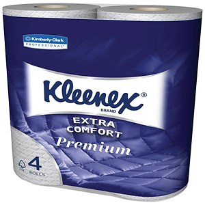 Image of Kleenex Comfort Small Toilet Rolls / 2-ply / 4 Rolls of 160 Sheets Per Pack / 6 Packs