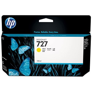 Image of HP 727 DesignJet Yellow Ink Cartridge