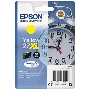 Image of Epson 27XL Yellow Inkjet Cartridge