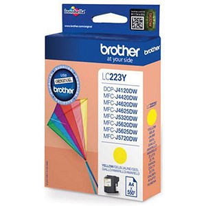 Image of Brother LC223Y Yellow Inkjet Cartridge