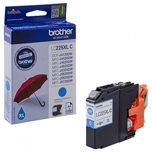 Image of Brother LC225XLC High Yield Cyan Inkjet Cartridge