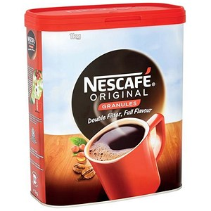 Image of Nescafe Original Instant Coffee Granules - 1kg Tin