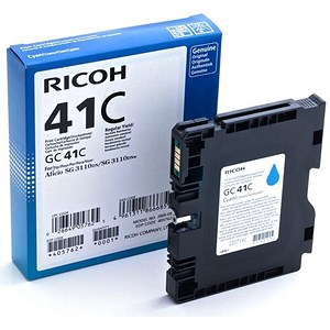 Image of Ricoh 41C Cyan Print Cartridge