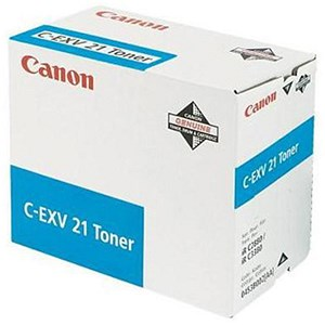 Image of Canon C-EXV21 Cyan Laser Toner Cartridge