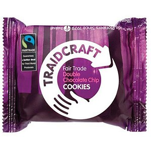 Image of Traidcraft Fairtrade Double Choc Cookies / 2 Biscuits per Minipack / Pack of 16