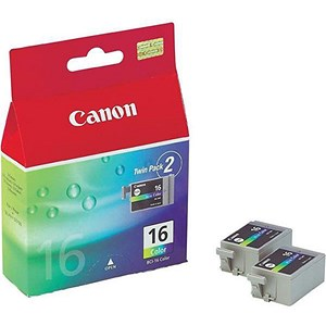 Image of Canon BCI-16 Colour Ink Cartridges (Twin Pack)