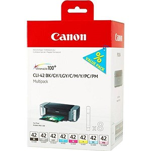 Image of Canon CLI-42 Inkjet Cartridge Multipack - Black and 7 Colours (8 Cartridges)