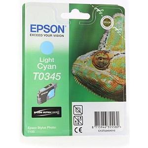 Image of Epson T0345 Light Cyan UltraChrome Ink Cartridge