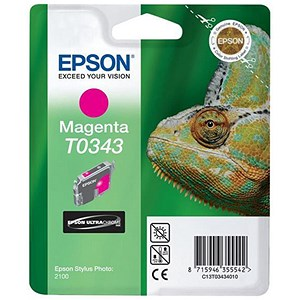 Image of Epson T0343 Magenta UltraChrome Ink Cartridge