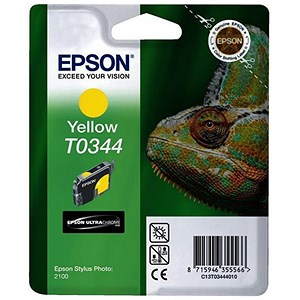 Image of Epson T0344 Yellow UltraChrome Ink Cartridge