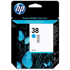 Image of HP 38 Cyan Ink Cartridge