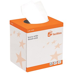 Image of 5 Star Facial Tissues - 24 Cubes of 70 Sheets
