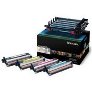 Image of Lexmark C540X74G Black and Colour Imaging Kit