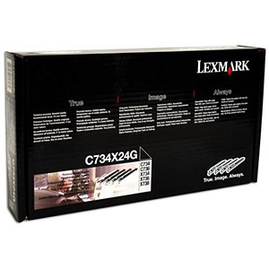 Image of Lexmark C734X24G Photoconductor Unit Multipack - Black, Cyan, Magenta and Yellow (4 Units)