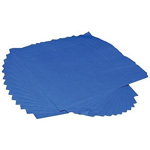 Image of 2-Ply Napkins / 400x400mm / Royal Blue / Pack of 125