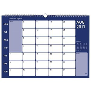 Image of Collins 2017 Colplan Memo Calendar / Wirebound / Month to View