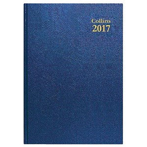 Image of Collins 2017 Diary / Week To View / A5 / Blue