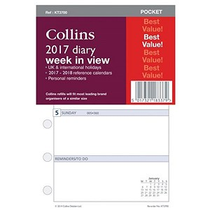 Image of Collins 2017 Pocket Diary Refill - Week to View