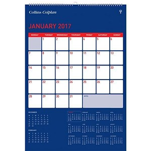 Image of Collins Colplan 2017 Full View Calendar