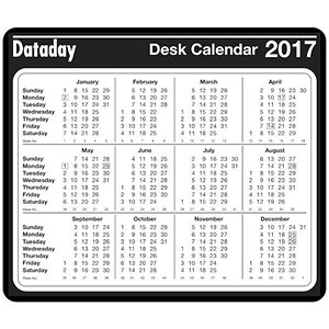 Image of Desk Mouse Mat - Year to View 2017