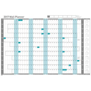 Image of Sasco 2017 Wall Planner - Unmounted