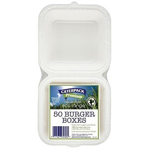 Image of Caterpack Rigid Burger Boxes - Pack of 50