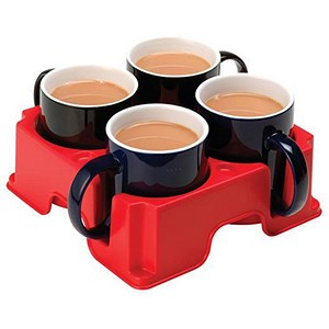 Image of Mug Carrier for 4 Large Mugs - Red